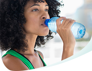 Woman Drinking Water Callout