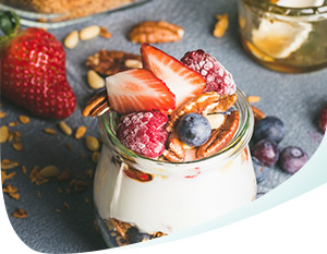 Jar of Yogurt With Fruit