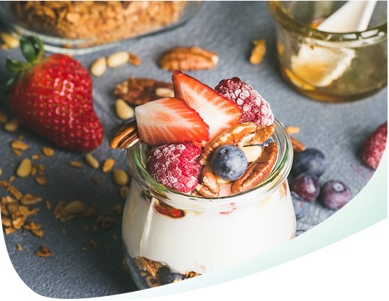Jar of Yogurt With Fruit Mobile