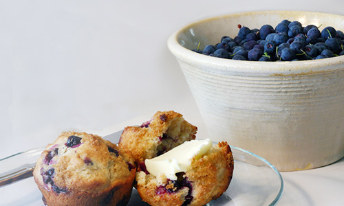 Blueberry Muffins With Blueberries Mobile