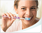 Woman Brushing Teeth Callout Mobile