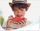 Boy Eating Watermelon Header Callout Mobile
