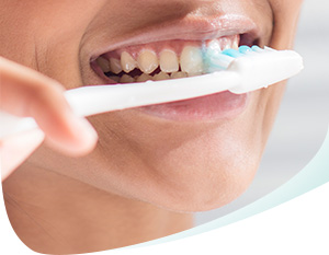 Brushing Teeth with Pronamel Toothpaste Callout