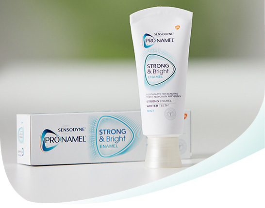 Pronamel Strong and Bright Toothpaste Callout